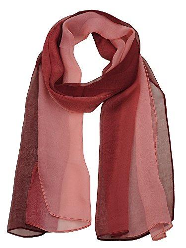 NYFASHION101 Women's Multicolor Chiffon Silk Blend Scarf Shawl Wrap, - Chiffon Headwrap