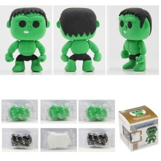 [Hulk Model Ultralight 3D Colored Modeling Clay DIY Intelligence Toy by Completestore] (Hulk Classic Infant Costumes)
