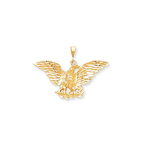 Solid 10k Yellow Gold EAGLE Pendant Charm (41mm x ()