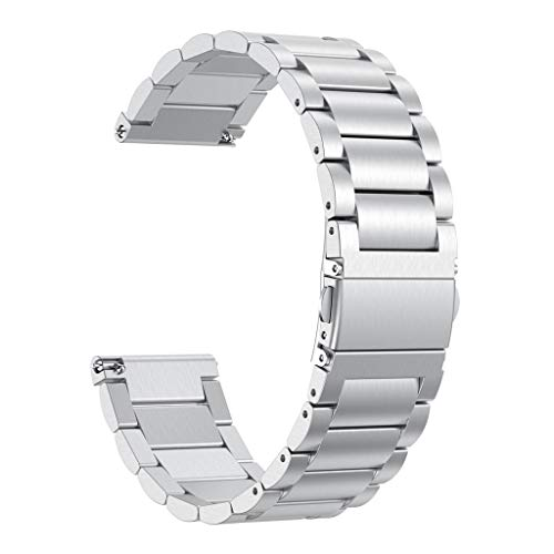 Clearance! For Fitbit Versa Lite, Stainless Steel Bracelet Watchband for Women Men Adjustable Replacement Wrist ()