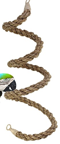 02067 Extra Large Abaca Rope Boing Bird Toy Cage Toys Cage Amazon Macaw Cockatoo by Bonka Bird Toys