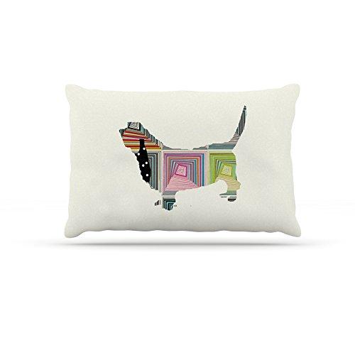 30 by 40\ Kess InHouse Bri Buckley Schuavzer  Fleece Dog Bed, 50 by 60 , Brown