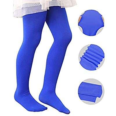 Zando Girls Stretchy Dance Tights Comfort Colorful Leggings Pants Elastic Ballet Footed Tight for Girl