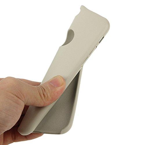 Phone Taschen & Schalen Thin Plastic Coating Leder Schutzhülle für iPhone 6 Plus & 6S Plus ( Color : Beige )