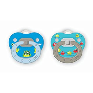 NUK Translucent Pacifier, 6-18 Months, Boy, 2 pk