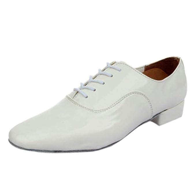 Btruely Moda Zapatillas Hombre con Cordones sólidos Rumba Baile de salón Latina Zapatos de Baile Hombres