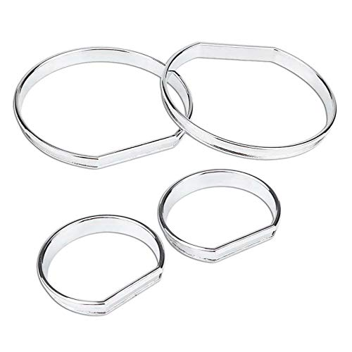 TOOGOO 4Pcs Car Front Dashboard Speedometer Gauge Decoration Frame Dial Rings Trim: