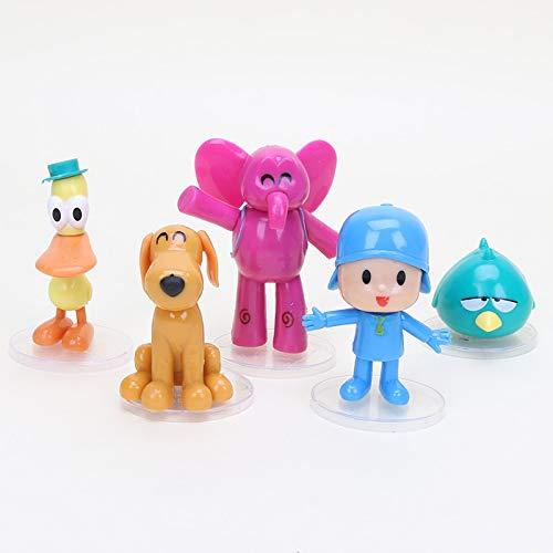 Arshily - 5pcs/Set Pocoyo Figure Elly Pato Loula Sleepy Bird Pocoyo PVC Action Figures Collectible Model Toy Doll Kids]()