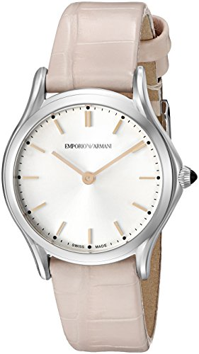 Emporio Armani Swiss Made Women's ARS7005 Analog Display Swiss Quartz Beige Watch