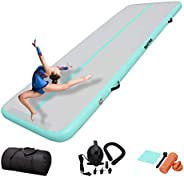 DAIRTRACK IBATMS Airtrack mat,10ft/13ft/16ft/20ft Tumble Track air mat for Gymnastics Training/Home Use/Cheerl