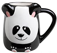 Panda Bear Hand Painted 16oz Panda Stone ware Coffee Mug by Tag