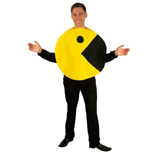 InCogneato Men's Pac-Man 2D Profile Adult Costume -