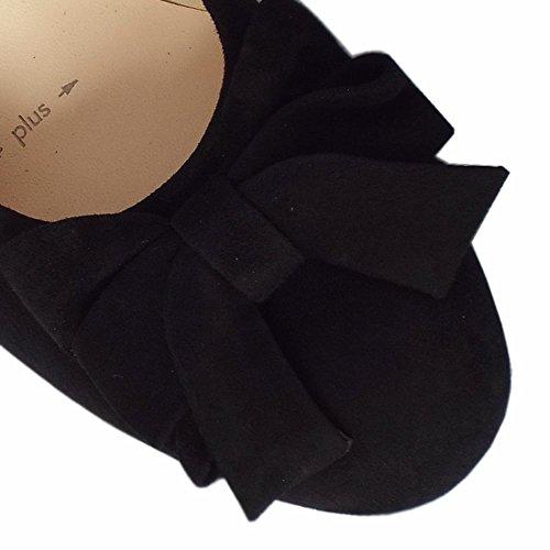 Christiane En Noir Daim Black Kaiser Large Sued Talons Peter Bas Forme Chaussures 45wqw0z