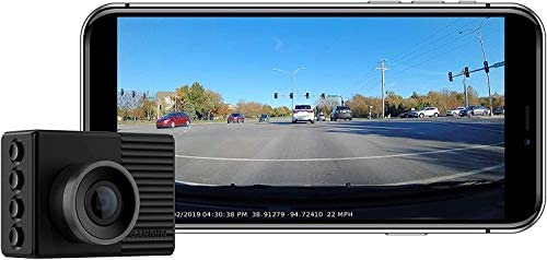 "Garmin Dash Cam 46, Wide 140-Degree Field of View in 1080P HD, 2"" LCD Screen and Voice Control, Very Compact with Automatic Incident Detection and Recording (Renewed)"