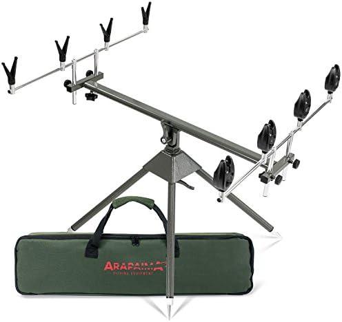 Caña de pescar soporte con cojines y alarmas Set 4 way: Amazon.es ...