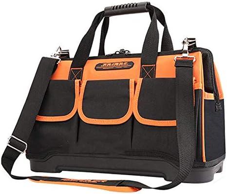 耐久性工具バッグ ホームDIY&機器ストレージの太いベースショルダーストラップ付き多機能防水ツールバッグ 工具収納&仕分け管理&運搬用 (色 : Orange, Size : 20inch)