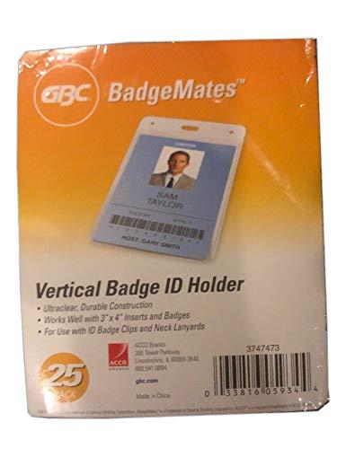Swingline GBC Badge Holder, Vertical ID Holder, 4