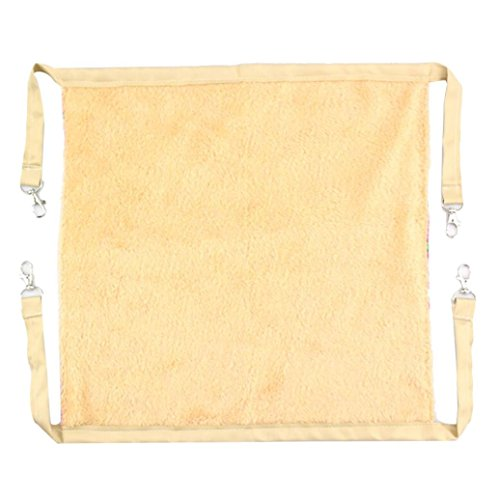 DEESEE(TM) New Velvet Hammock For Pet Hamster Rat Parrot Ferret Hamster Hanging Bed Cushion Hou (Beige)