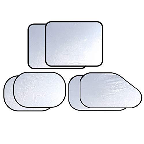 LKXHarleya 6 Pack Auto Car Windshield Sun Shade Sunshade Reflector Universal Truck Sun Shield Blocks UV Rays Sun Visor Protector Front Rear Side Window Cover Keeps Vehicle Cool