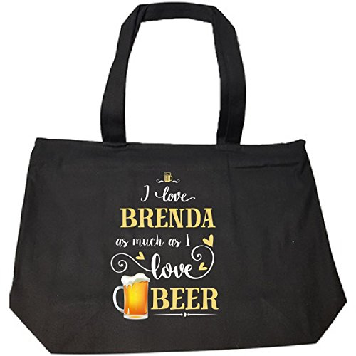 I Love Brenda As Much As I Love Beer Gift For Him - Tote Bag With (Brenda Zip Bag)
