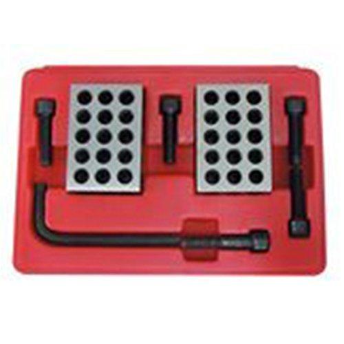 8 Pc Precision 123 Blocks & Screws Clamping Set Kit With Case 1-2-3