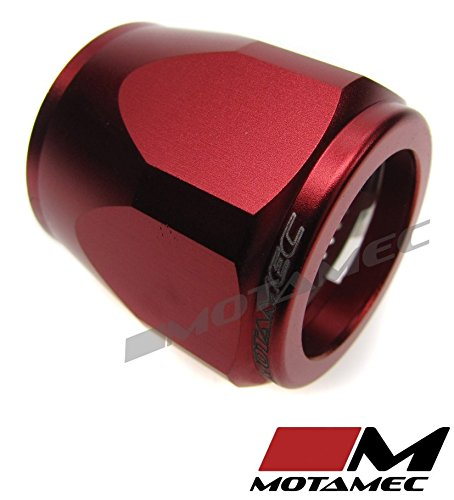 Motamec 24mm AN12 Fuel Hose Clamp End Finisher Hex Head Jubilee Alloy RED