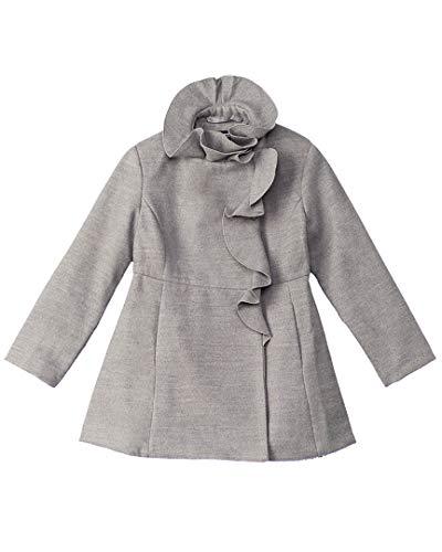 (Rothschild Girls Kids Ruffle Coat, 6, Grey)