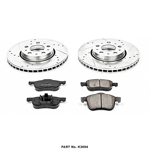 Power Stop JBR1311XPR Front Evolution Drilled /& Slotted Rotor Pair