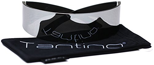 Futuristic Shield Sunglasses Monoblock Cyclops 100% UV400 Full Mirror - Cyberpunk Sunglasses