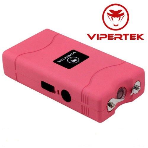 VIPERTEK PINK VTS-880 50 MV Rechargeable Police Mini Stun Gun + Taser Case
