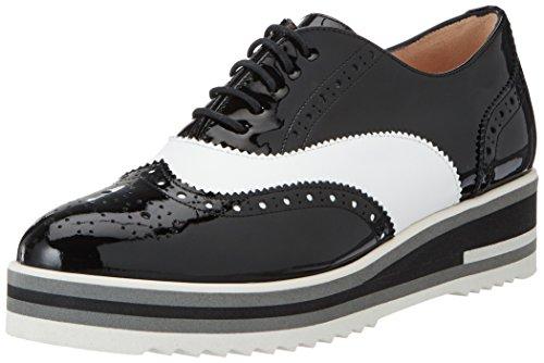Peter Kaiser Elli, Zapatos de Cordones Brogue para Mujer Schwarz (sch Lack Wss Nappa Sch Sohle 926)