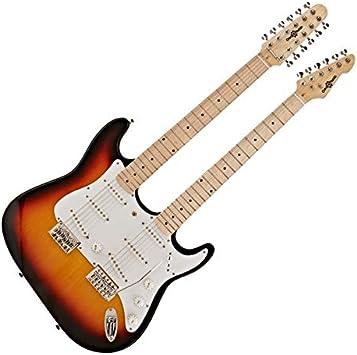 Guitarra LA de Doble Mastil de Gear4music - Sunburst: Amazon.es ...