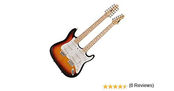 Guitarra LA de Doble Mastil de Gear4music - Sunburst: Amazon.es ...