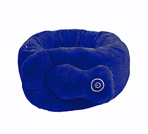 Sharper Image Portable Massaging Neck Wrap, gently vibrates the muscles of the neck, Great for Traveling, lightweight & easy to pack, Wonderful Gift (Navy)