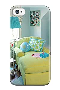 Andrew Cardin's Shop 2779237K80702788 New Diy Design Teen Bedroom With Funky Lime Chaise And Blue Walls And Rug For Iphone 4/4s Cases Comfortable For Lovers And Friends For Christmas Gifts