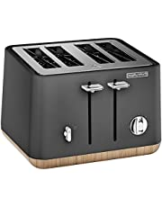 Morphy Richards 4 Slice Toaster Aspect Titanium Wood