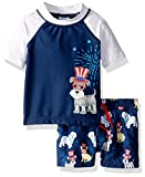 KIKO & MAX Boys' Baby Swimsuit Set with Short