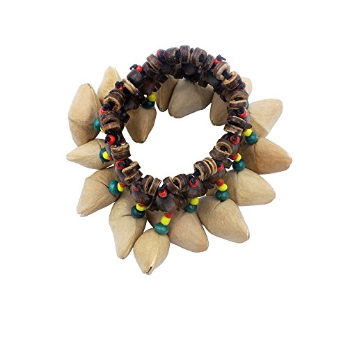 Mowind African Tribal Style Nuts Shell Bracelet Dora Nut Handbell Percussion Accessories by Mowind