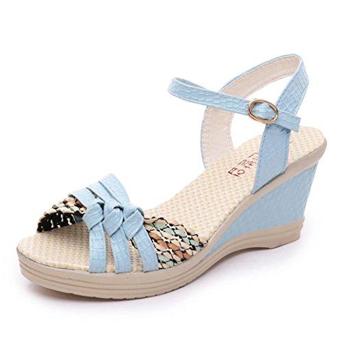 Zapatos azules casual Winwintom para mujer jFLR8JAl