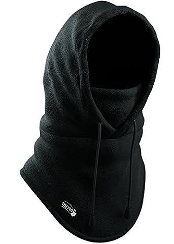 Balaclava Fleece Hood - Windproof Face Ski Mask - Ultimate Thermal Retention & Moisture Wicking with Performance Soft Fleece Construction, Black, One - Winter Balaclava