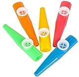 50 Pcs 4'' Plastic Kazoos, Parties, Pinatas Fun Carnivals Goody Bags New