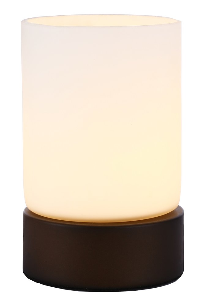 Haysoms Small Bronze Metal and Glass 4 Stage Touch Dimmable Table Lamp