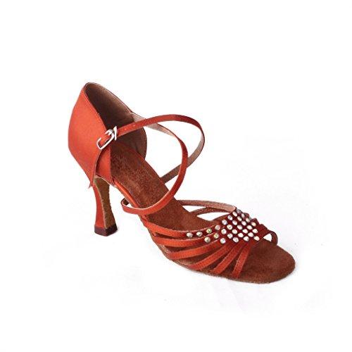 5 A Aperta Per Con Dance 3 gold Latina Tacco Tango Jig Alto 89 Foo Punta sandali Salsa Cm Ballroom Donna Shoes Donna 8 Peachy wTAZt