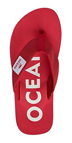 Zehenstegpantolette rot weiß MADSea Ocean MADSea Zehenstegpantolette c8qxwEWgRz