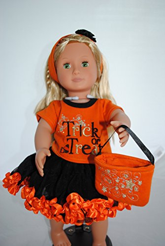 [18 Inch Trick or Treat American Girl Doll Halloween Outfit] (Doll Halloween Outfit)