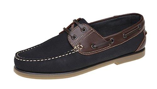 Dek , Chaussures bateau pour homme multicouleur Navy/Brown 45.5