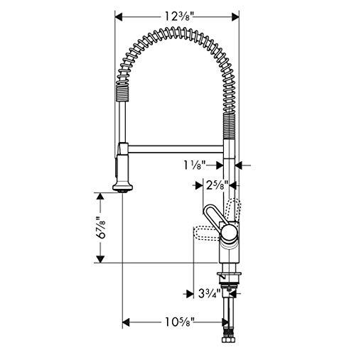 Hansgrohe 04700805 Talis Loop Kitchen Faucet, Steel Optic