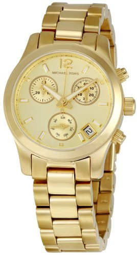 Michael Kors Gold-tone Stainless Steel Chronograph Ladies Watch