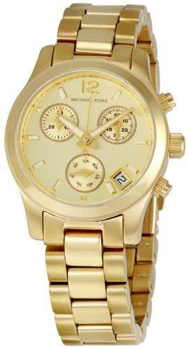 Ladies Stainless Steel Chronograph - Michael Kors Gold-tone Stainless Steel Chronograph Ladies Watch