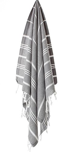 Cacala Hand Face Turkish Towel Pestemal 23x36 Peshtemal Fouta Kitchen Baby Care Antrasit by Cacala